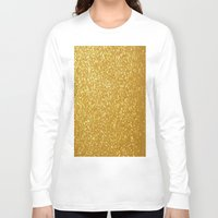 gold glitter Long Sleeve T-shirts featuring GOLD GLITTER by I Love Decor