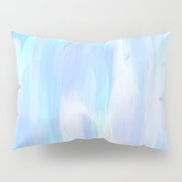 Abstract Layered Brush Texture Jellyfish Color Light Blue Lilac Shade Pillow Sham