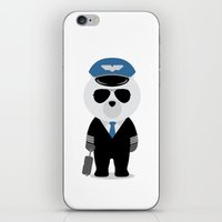 aviation iPhone & iPod Skins featuring Aviation Bear by Elle Moz