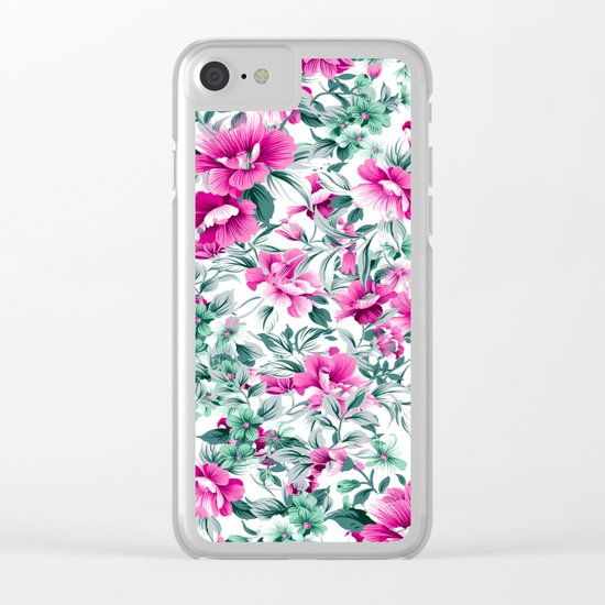 FLORAL PATTERN 92 Clear iPhone Case