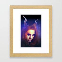 Lana with Horns #2 Framed Art Print