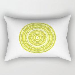 Lime green dot art painting Rectangular Pillow