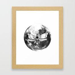 Moonmoth Framed Art Print