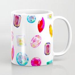 Rhinestone Reverie in White Coffee Mug