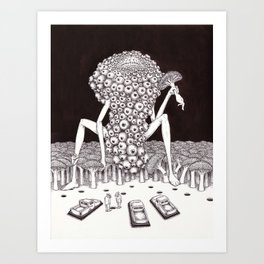 Suddenly Art Print