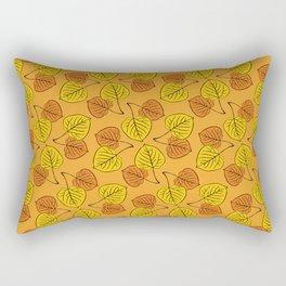 Aspen Leaves Pattern Rectangular Pillow