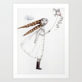 Picture Two:  The Kite Art Print