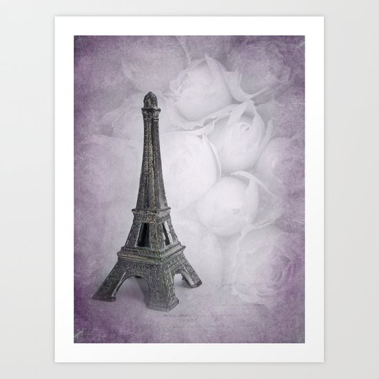 EIFFEL TOWER - IN LOVE WITH PARIS Art Print