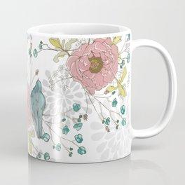 Blue Bird and Peonies Coffee Mug
