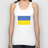 ukraine Tank Tops featuring Ukraine country flag by tony tudor