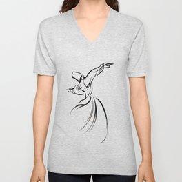 Sufi Meditation Whirling Dervish Unisex V-Neck
