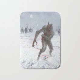 Wounded Wolf Bath Mat