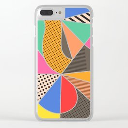 color segments 003 Clear iPhone Case