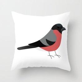 Punatulkku / Bullfinch Throw Pillow