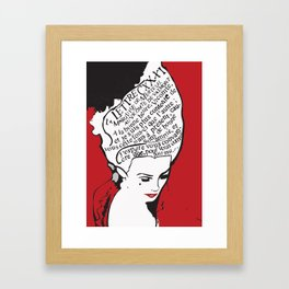 La Marquise de Merteuil - Dangerous Liaisons Framed Art Print