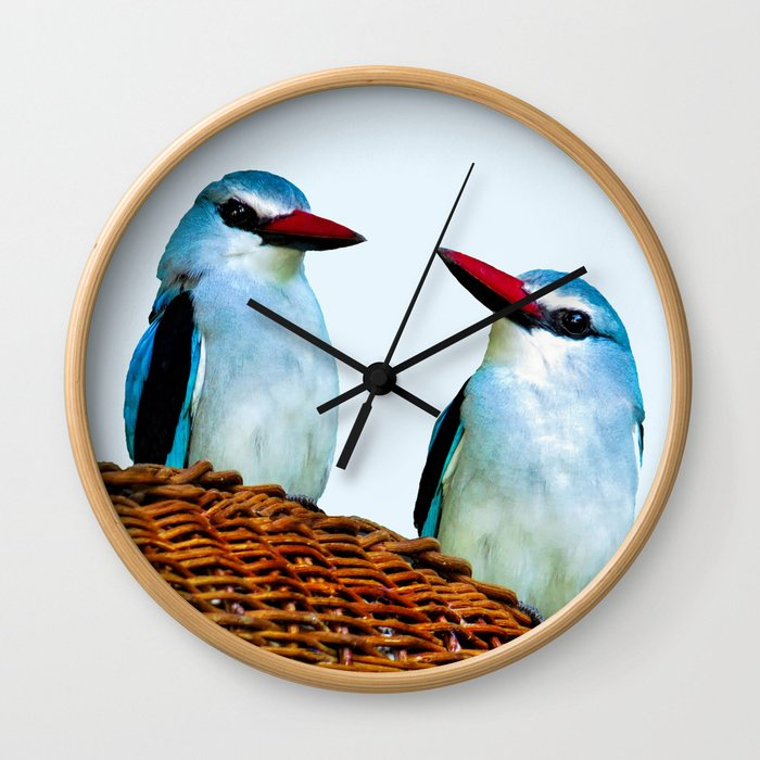 Woodland Kingfisher chit chat Wall Clock