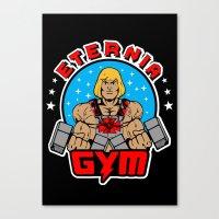 gym Canvas Prints featuring Eternia Gym by Buby87