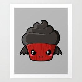 Spooky Cupcake - Vampire Art Print