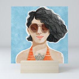 Wavy hair Mini Art Print