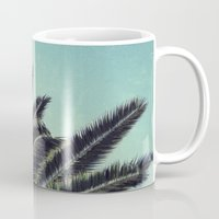 palms Mugs featuring Palms by RichCaspian