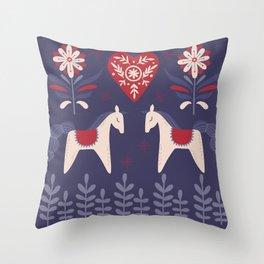 Swedish Christmas Throw Pillow