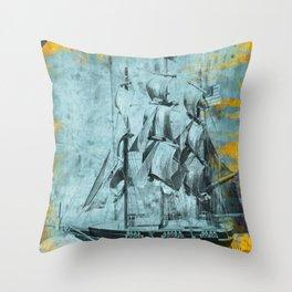 American Clipper Throw Pillow