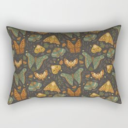 Autumn Moths Rectangular Pillow