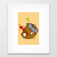 poop Framed Art Prints featuring Sick Poop by Artistic Dyslexia