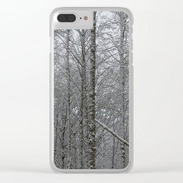 Winter Woodland - 51/365 Clear iPhone Case
