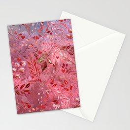 Urban Red Flourish Stationery Cards