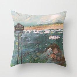 Water Music #8 Throw Pillow