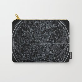 Constellations of Northern Hemisphere | White Ink on Black Archival Paper Carry-All Pouch