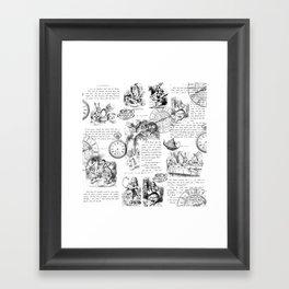 Alice in Wonderland - Pages Framed Art Print