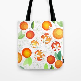 Orange Blossom Pattern Tote Bag