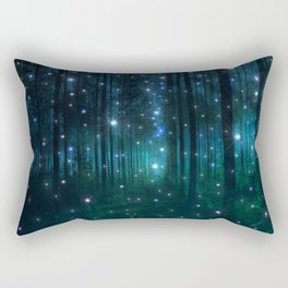 Glowing Space Woods Rectangular Pillow