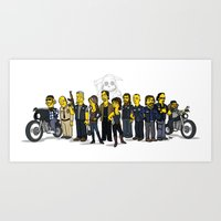 sons of anarchy Art Prints featuring Sons Of Anarchy cast by Adrien ADN Noterdaem
