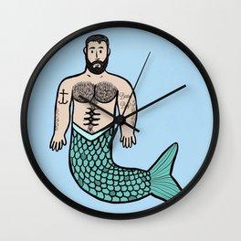 Beard Boy Merman: Troy Wall Clock