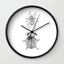 Sheildy Bugs Wall Clock