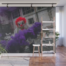 Halloween Scary Clown (Color) Wall Mural
