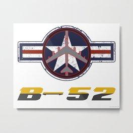 B-52 with Insignia  Metal Print