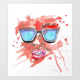 Splatter / Passion Art Print
