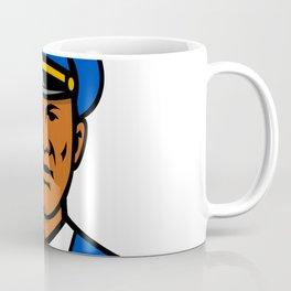 African American Policeman Mascot Coffee Mug