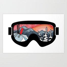 Snow Sport Sunset | Ski and Snowboard Series | DopeyArt Art Print