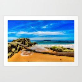 Singular Tropical Beach Art Print