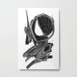 Black Spider Metal Print