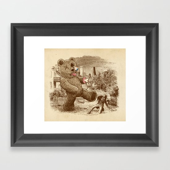 Teddy's Back! Framed Art Print
