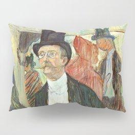 """Henri de Toulouse-Lautrec """"Monsieur Henri Fourcade au Bal de l'Opéra"""" Pillow Sham"""