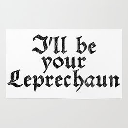 I'll be your Leprechaun - Vintage Look Retro Style Rug