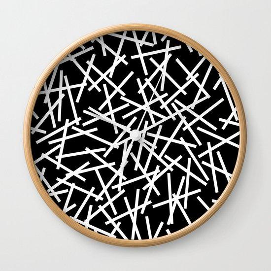 Kerplunk Black and White Wall Clock