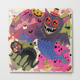 batty, catty and fishy(?!) for Halloween! Metal Print